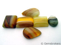 Natural agate cabochons