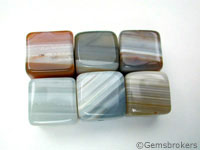 Natural agate cubes