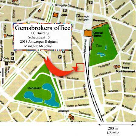 Antwerp gemsbokers office location