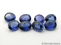 Oval cut blue sapphires
